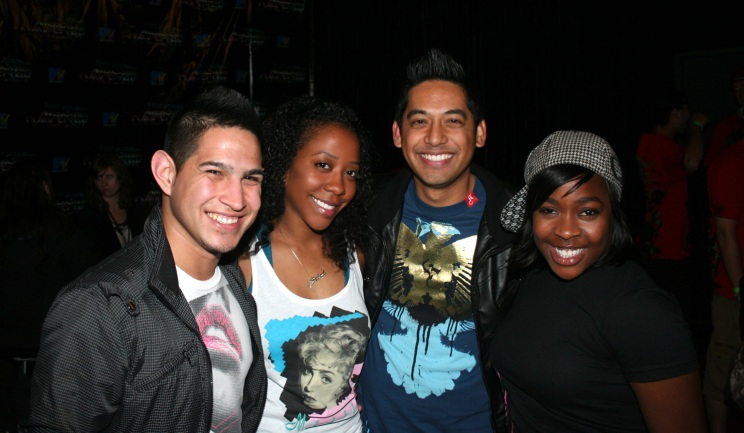*l-r: Jose, Moi, Arnel Calvario (Founder/Manager of Kaba Modern and President of the Board of Directors for CULTURE SHOCK LOS ANGELES DANCE TROUPE), and Glenda Morales (Fanny Pak)