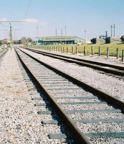 Riverfront Streetcar Tracks.